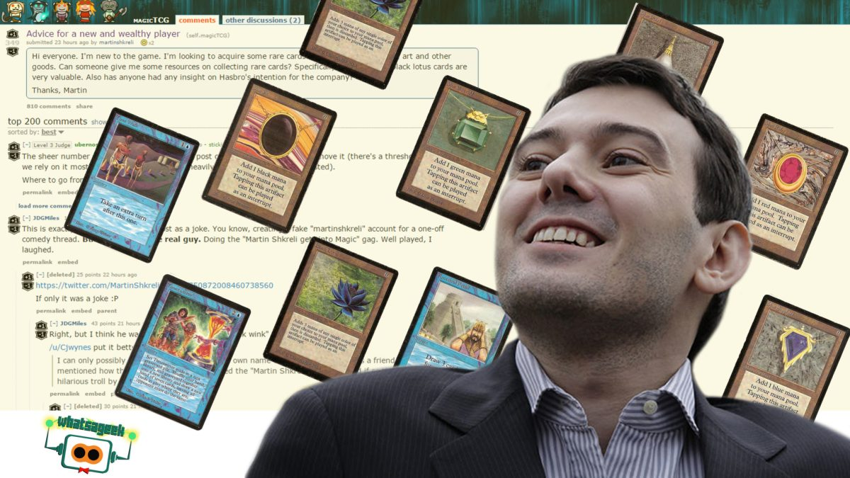 Martin Shkreli sets his sights on Magic: The Gathering